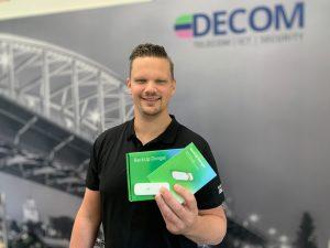 Engineer Alex Meijrink met KPN 4G dongel